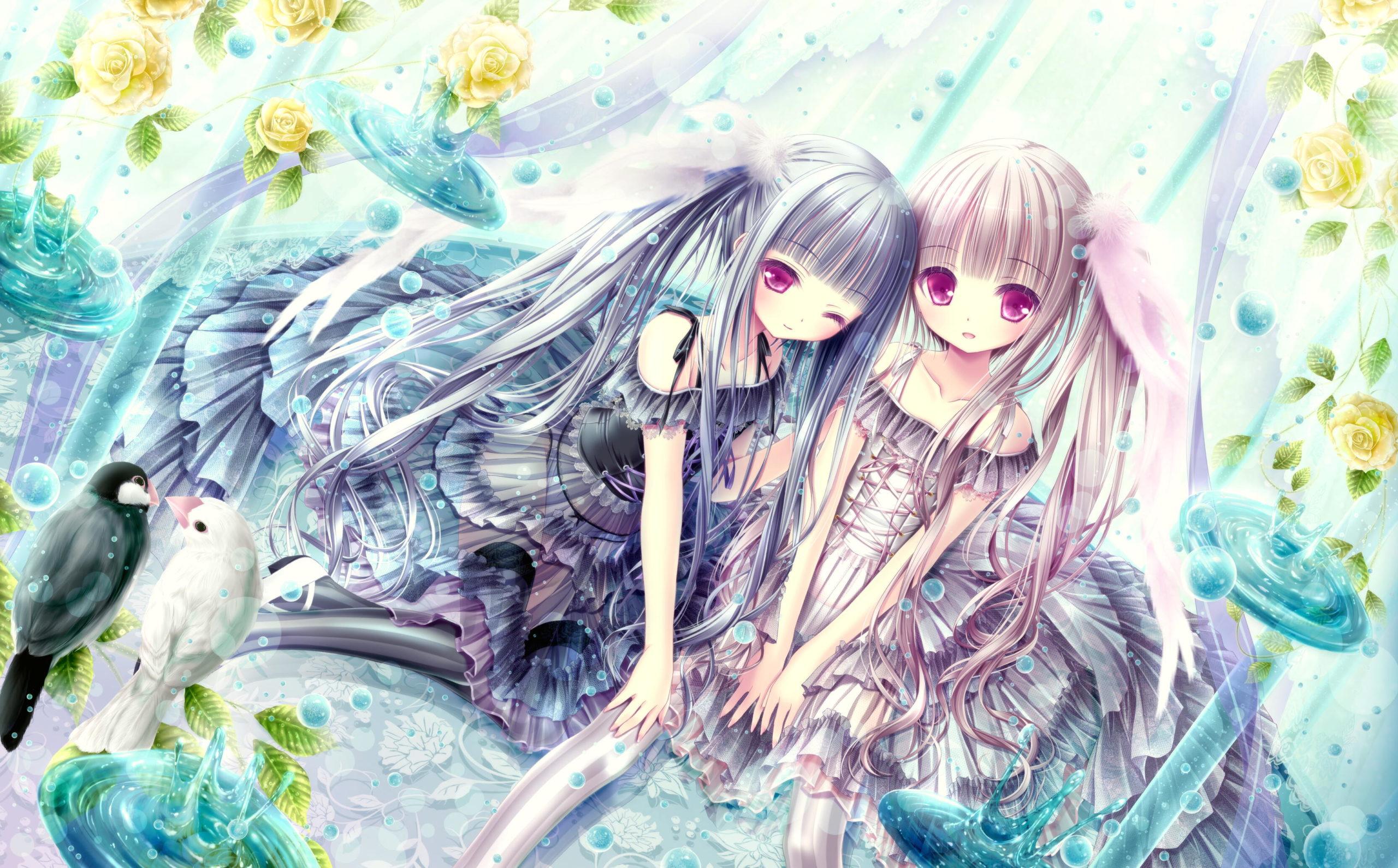 ★てぃんくる先生新作版画 『愛鳥の五季折々』 愛すべき鳥っ娘たち